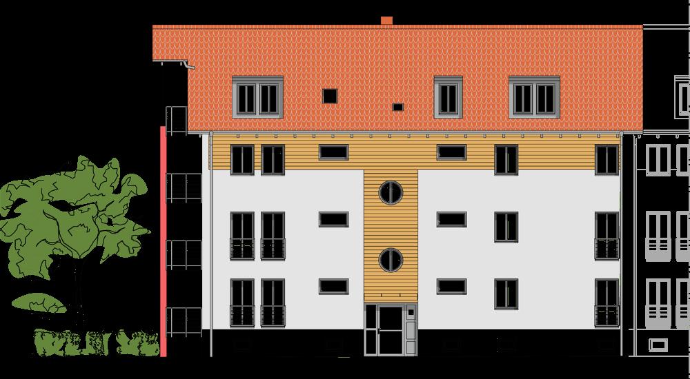 Fassadensanierung Mehrfamilienhaus Buttstädt