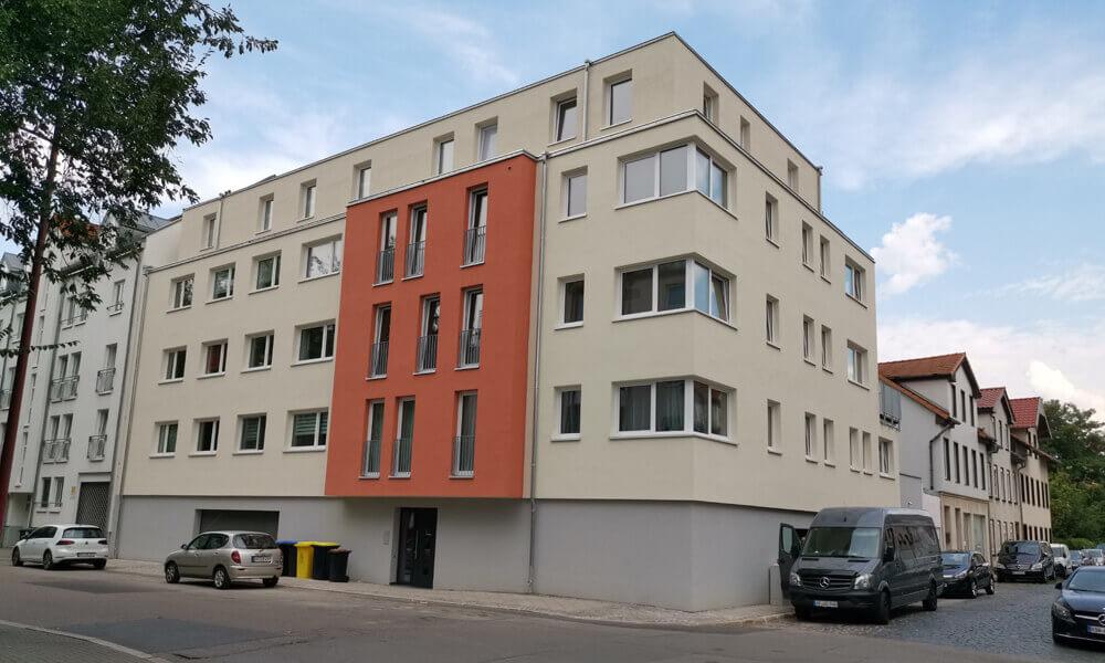Neubau Mehrfamilienhaus Erfurt - Strassenansicht